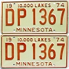 1974 Minnesota pair # DP-1367