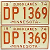 1974 Minnesota pair # DP-1369