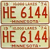 1974 Minnesota pair # HE-6144