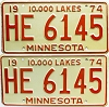1974 Minnesota pair # HE-6145