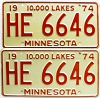 1974 Minnesota pair # HE-6646