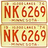 1974 Minnesota pair # NK-6269