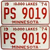 1974 Minnesota pair # PS-9019