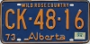 1974 Alberta Wild Rose Country # CK-48-16