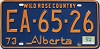 1974 Alberta Wild Rose Country # EA-65-26