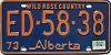 1974 Alberta Wild Rose Country # ED-58-38