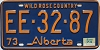 1974 Alberta Wild Rose Country # EE-32-87