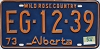 1974 Alberta Wild Rose Country # EG-12-39
