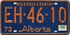 1974 Alberta Wild Rose Country # EH-46-10