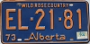 1974 Alberta Wild Rose Country # EL-21-81