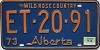 1974 Alberta Wild Rose Country # ET-20-91