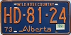 1974 Alberta Wild Rose Country # HD-81-24