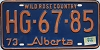 1974 Alberta Wild Rose Country # HG-67-85