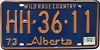 1974 Alberta Wild Rose Country # HH-36-11