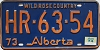 1974 Alberta Wild Rose Country # HR-63-54