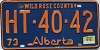 1974 Alberta Wild Rose Country # HT-40-42