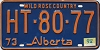 1974 Alberta Wild Rose Country # HT-80-77