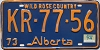 1974 Alberta Wild Rose Country # KR-77-56