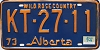 1974 Alberta Wild Rose Country # KT-27-11