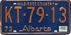 1974 Alberta Wild Rose Country # KT-79-13