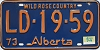 1974 Alberta Wild Rose Country # LD-19-59