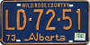 1974 Alberta Wild Rose Country # LD-72-51