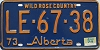 1974 Alberta Wild Rose Country # LE-67-38