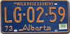 1974 Alberta Wild Rose Country # LG-02-59