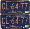 1974 Alberta Wild Rose Country pair # CL-64-77