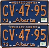 1974 Alberta Wild Rose Country pair # CV-47-95