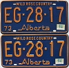 1974 Alberta Wild Rose Country pair # EG-28-17