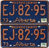 1974 Alberta Wild Rose Country pair # EJ-82-95
