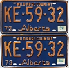 1974 Alberta Wild Rose Country pair # KE-59-32
