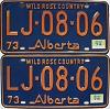 1974 Alberta Wild Rose Country pair # LJ-08-06