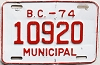 1974 British Columbia Municipal # 10920