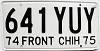 1974 Front Chihuahua # 641 YUY