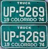 Bulk Lot of 1974 Colorado Truck pairs - 77 available