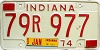 1974 Indiana # 79R977