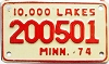 1974 Minnesota 10.000 Lakes Motorcycle # 200501