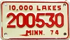 1974 Minnesota 10.000 Lakes Motorcycle # 200530
