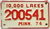 1974 Minnesota 10.000 Lakes Motorcycle # 200541