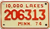 1974 Minnesota 10.000 Lakes Motorcycle # 206313