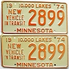 1974 Minnesota New Vehicle In Transit pair # 2899