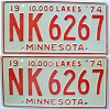 1974 Minnesota pair # NK-6267