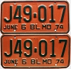 1974 Missouri Truck pair # J49-017
