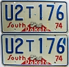 1974 South Dakota Farm Truck pair # U176, Pennington County