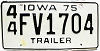 1975 Iowa Trailer # FV1704, Henry County