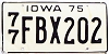 1975 Iowa # FBX202, Polk County