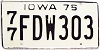 1975 Iowa # FDW303, Polk County