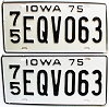 1975 Iowa pair # EQV063, Plymouth County
